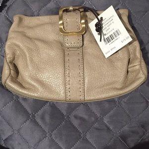 NWT Cole Haan gold cosmetic bag/mini clutch